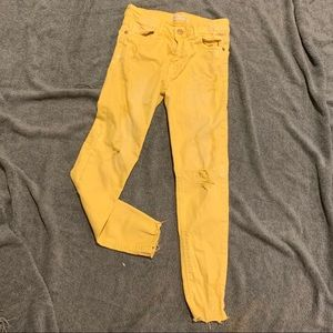 Zara Girls Jeans with Paint Speckles size 11-12